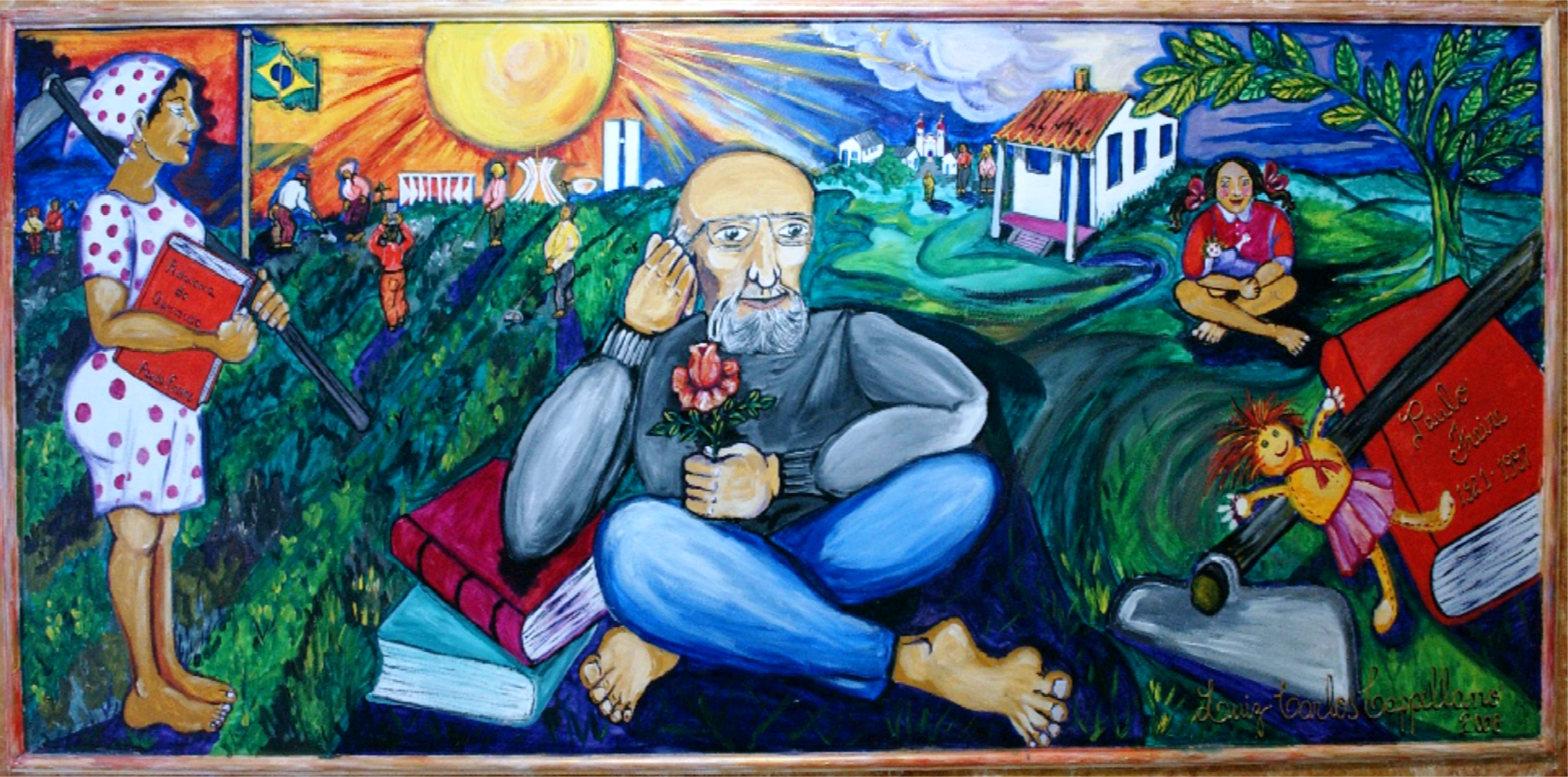 Painel Paulo Freire Painting by Luiz Carlos Cappellano