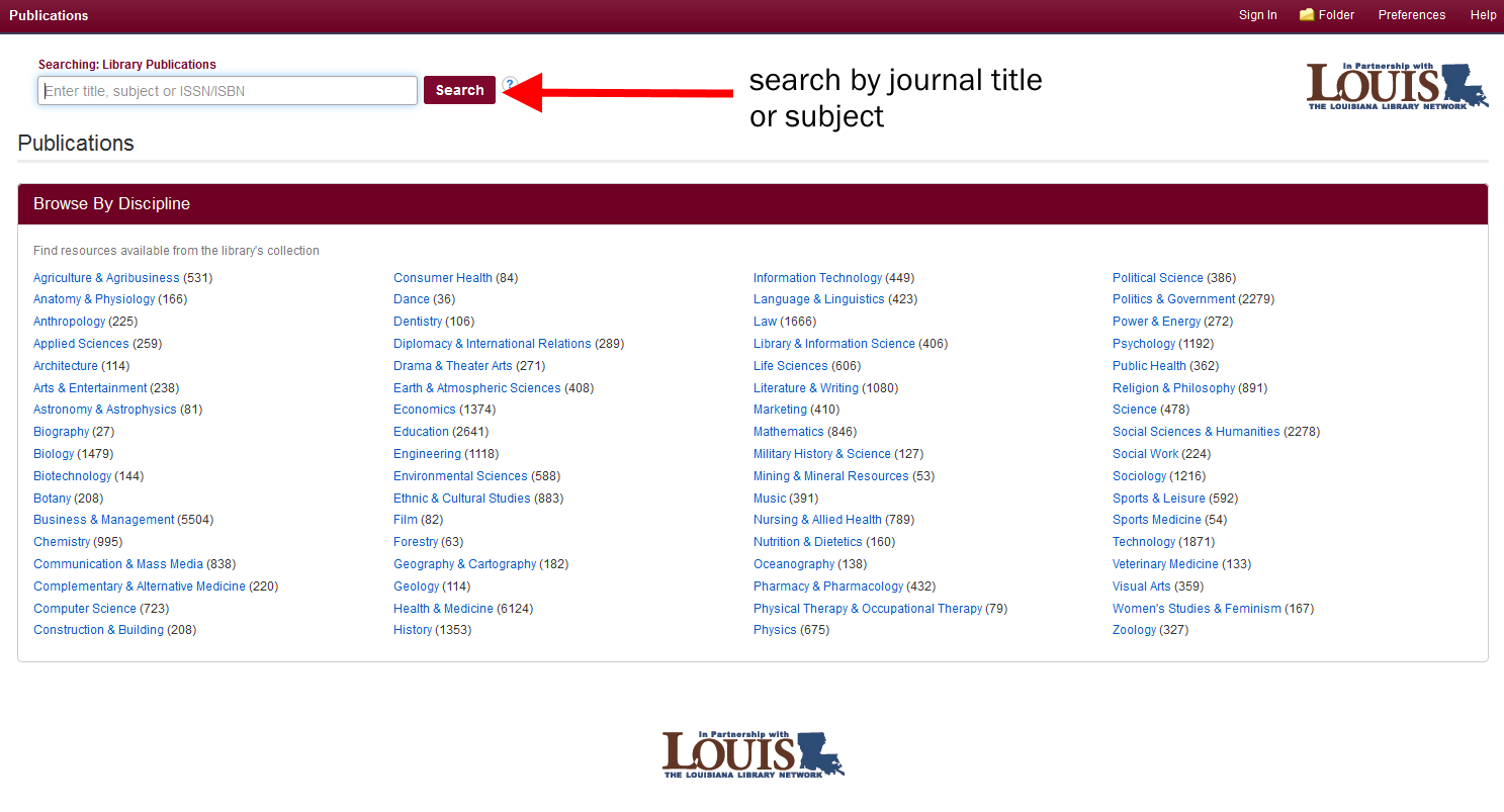 Publication Finder Screenshot