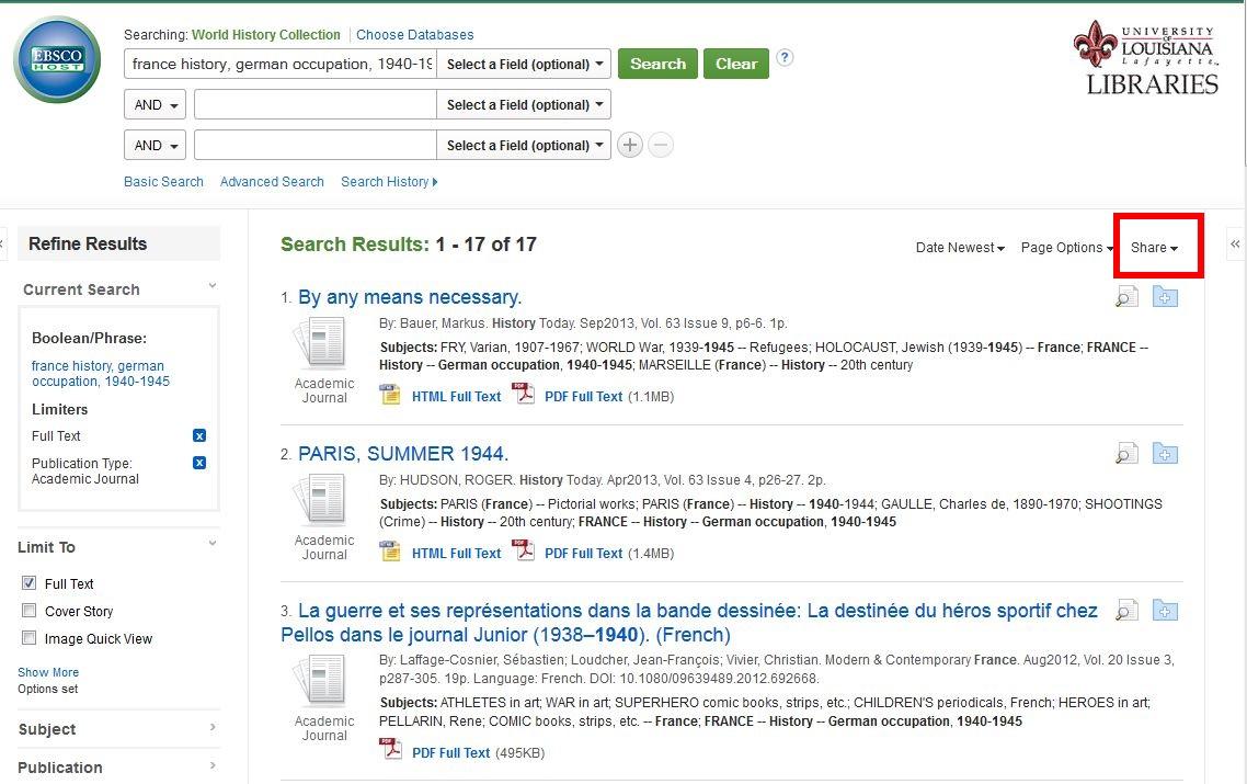 EBSCO Screenshot