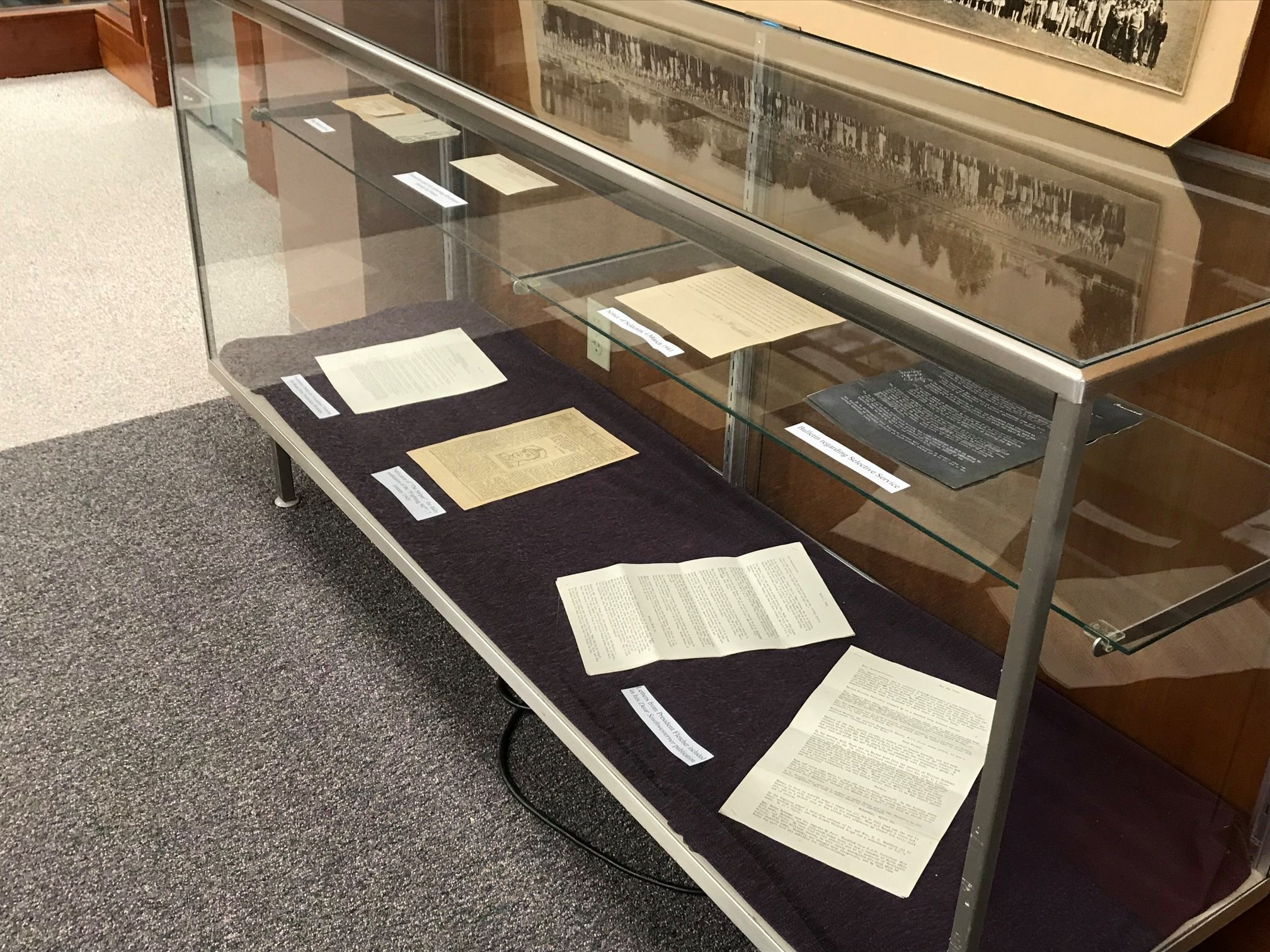 University Archives Display Case
