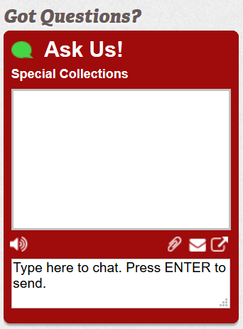 Special Collections Chat Box