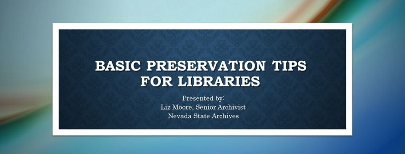 Image link to Preservation for Libraries slide deck