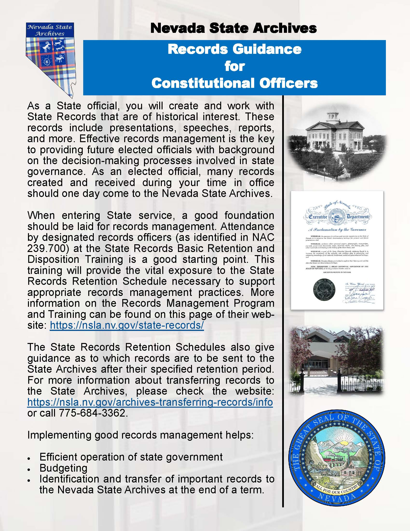Image link to the Records Guidelines for Constitutional Officers pdf