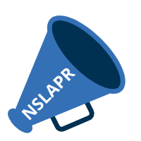 Image of a bullhorn and NSLAPR