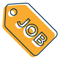 Image of a tag with the word Job