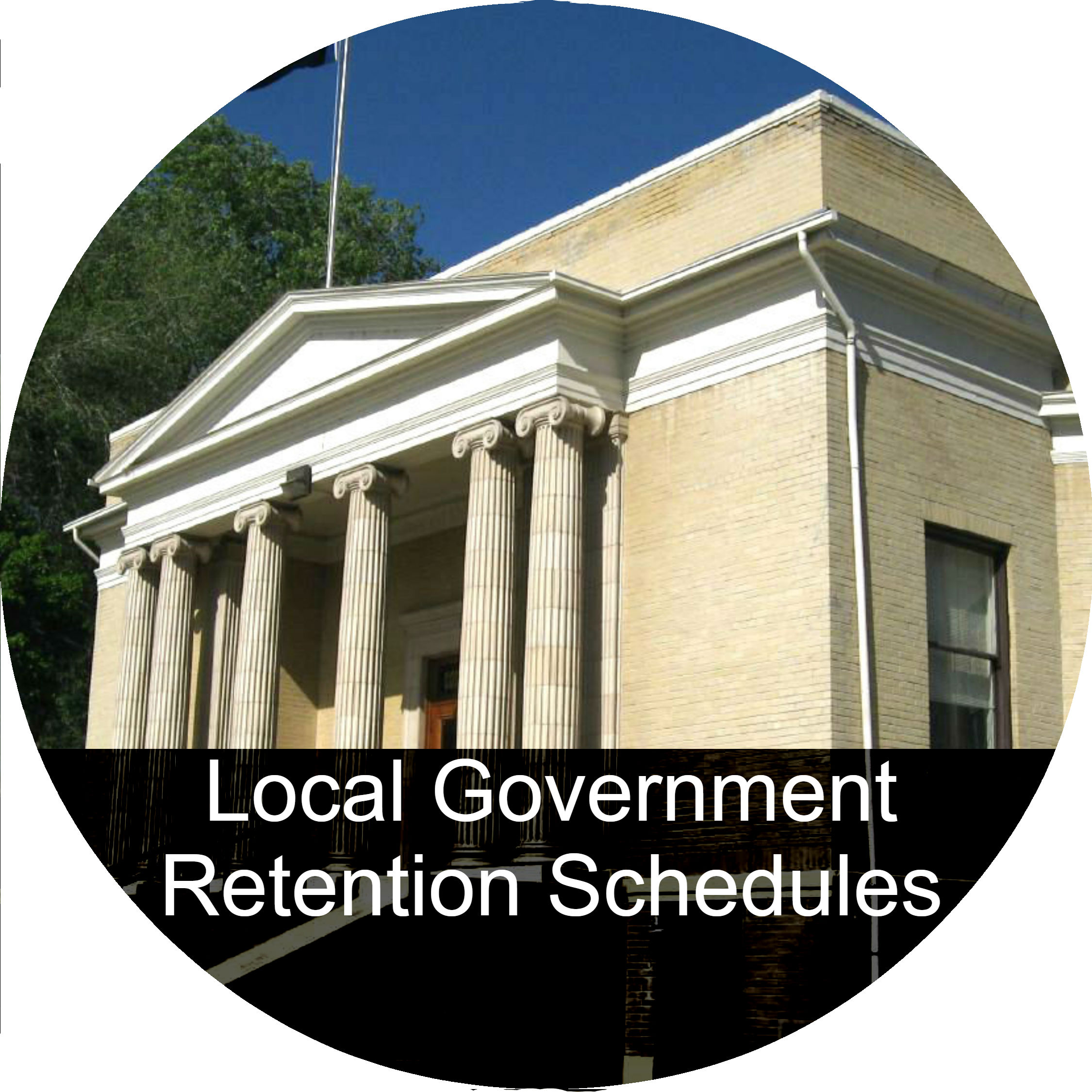 A button link to the Local Government Retention Schedules