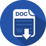 Word document icon and link
