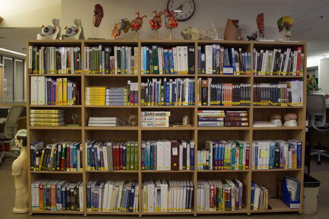 Reserve Shelves behind Circulation