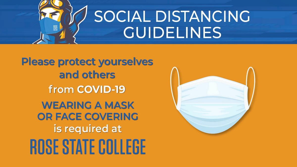 Graphic of policy requiring facial masks on campus and asking you to do your part to help protect others.