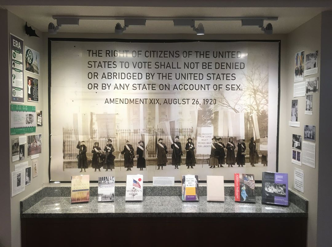 Women's Suffrage Book Display