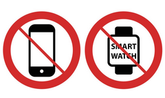 No cell phones; no smart watches