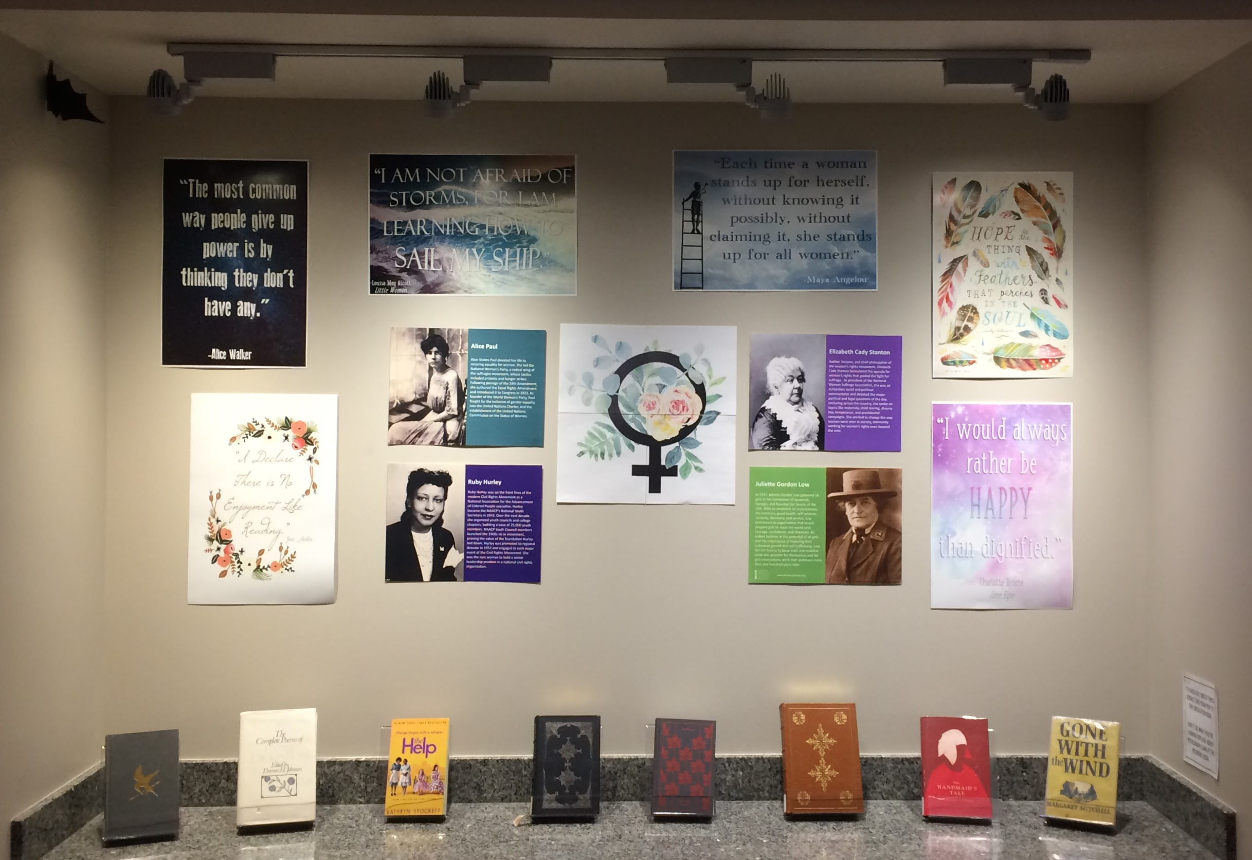 Rose State College Women's History Month Book Display