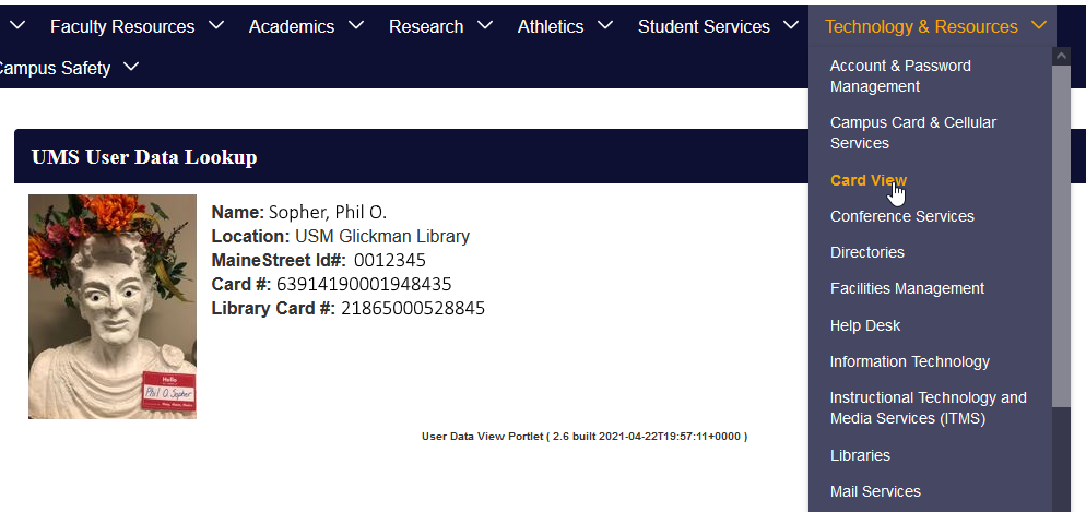 The USM ID as it appears in the USM Portal.