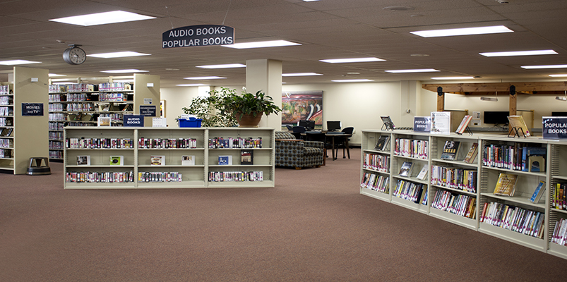 Browsing Area on the First Floor of Library