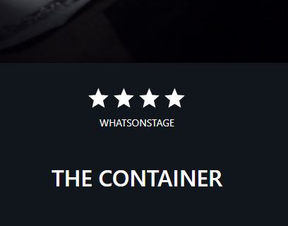 Cover of a playbill for The Container
