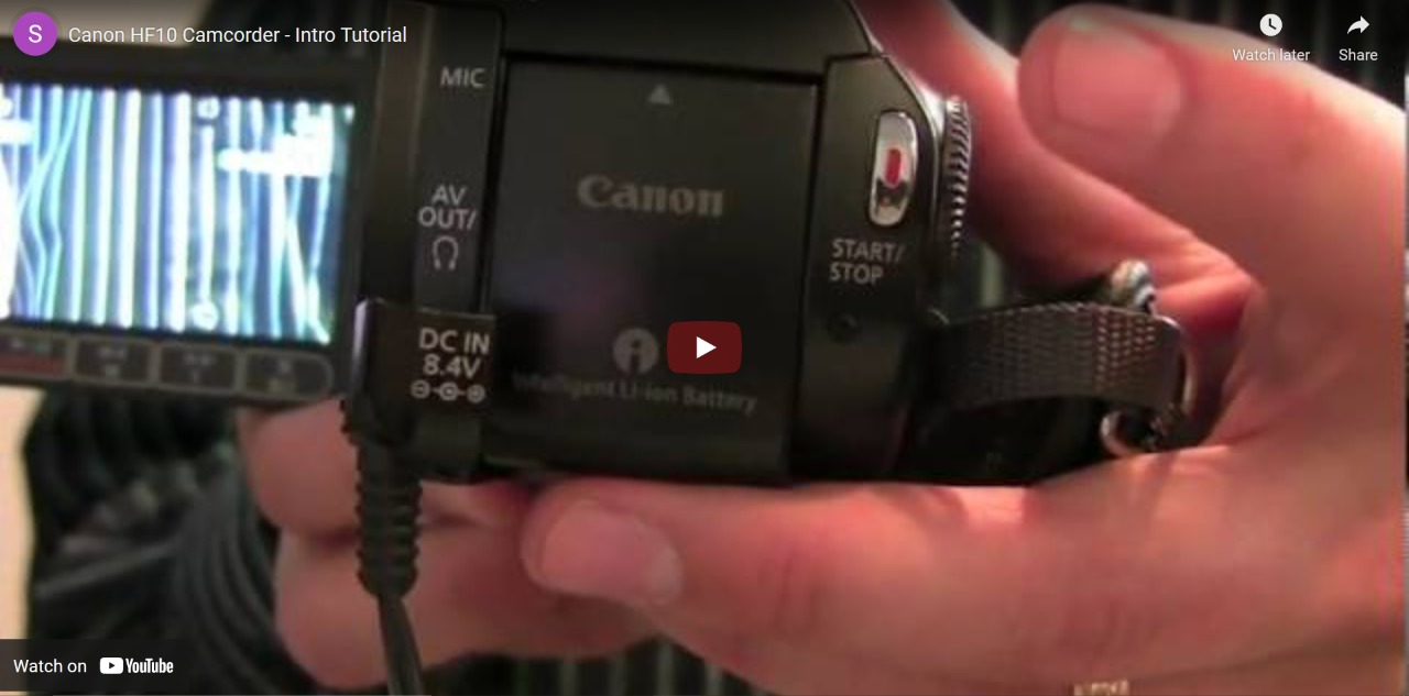 Canon Camcorder Video Thumbnail