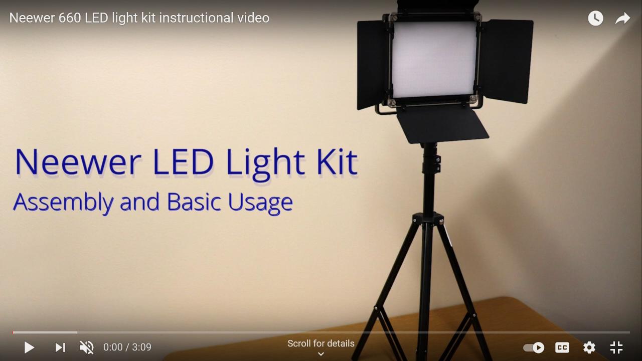Neewer LED Light Kit Video Thumbnail