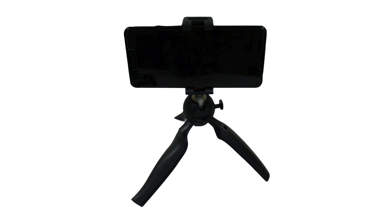 image of mini tripod holding a cell phone