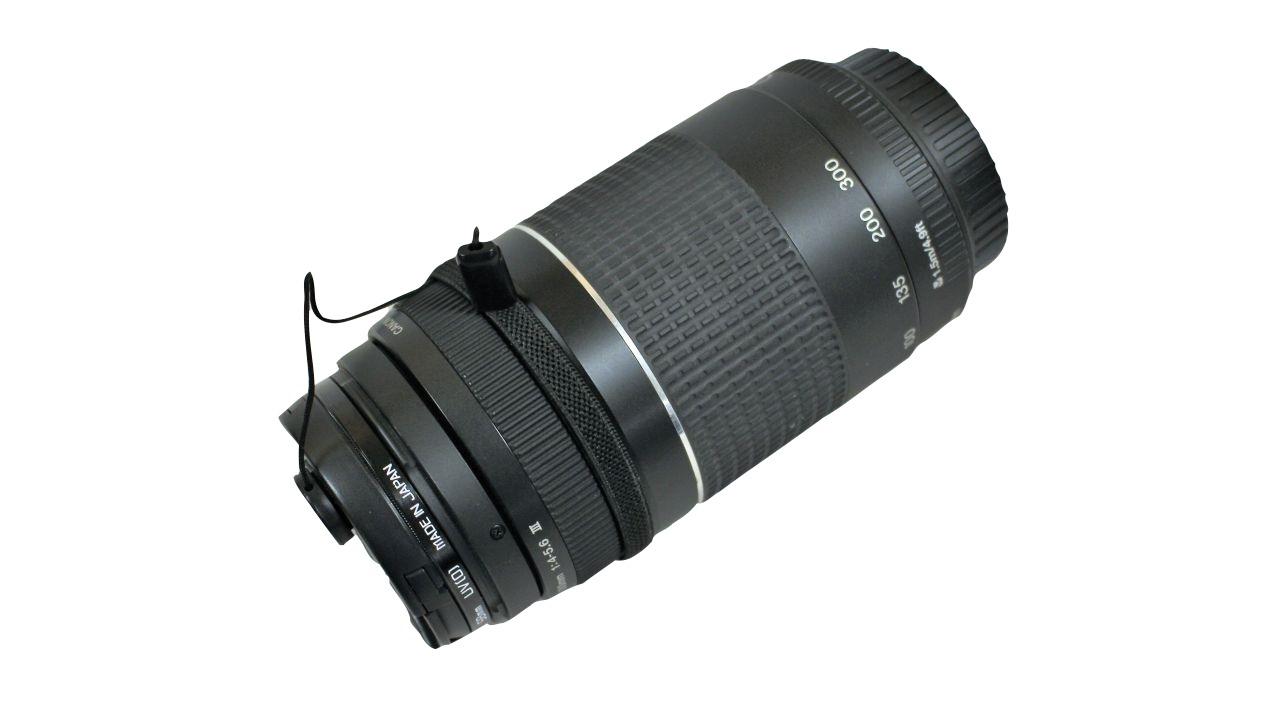 image of Canon telephoto lens