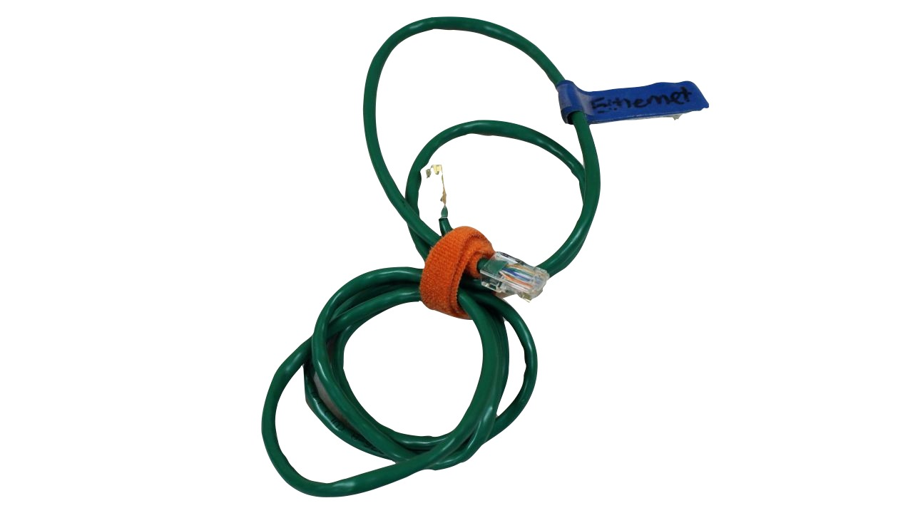 image of a green ethernet cable
