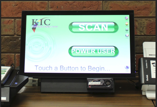 The KIC scanner is available in the printing area on the first floor.