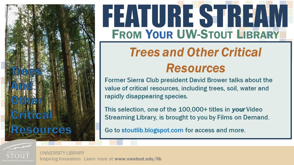Trees and Other Critical Resources streaming video