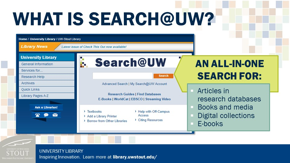 Search@UW image