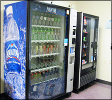 Vending machines next to Disability Services on the first floor of the Library