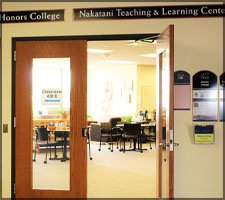 Honors College and Nakatani are located on the Fourth Floor of the Library
