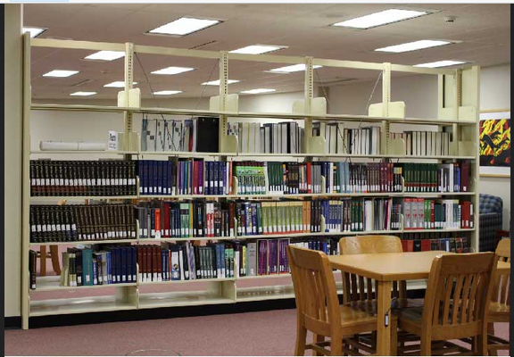 The reference material is located on the first floor of the library