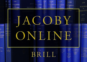 Brill's Jacoby Online cover art