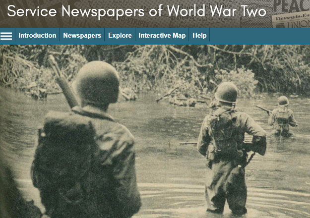 Service Newspaper of WW2 database screenshot