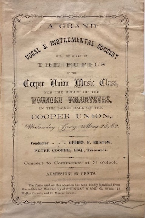 Concert for wounded soldiers 1862