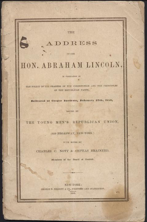 Lincoln Address 1860