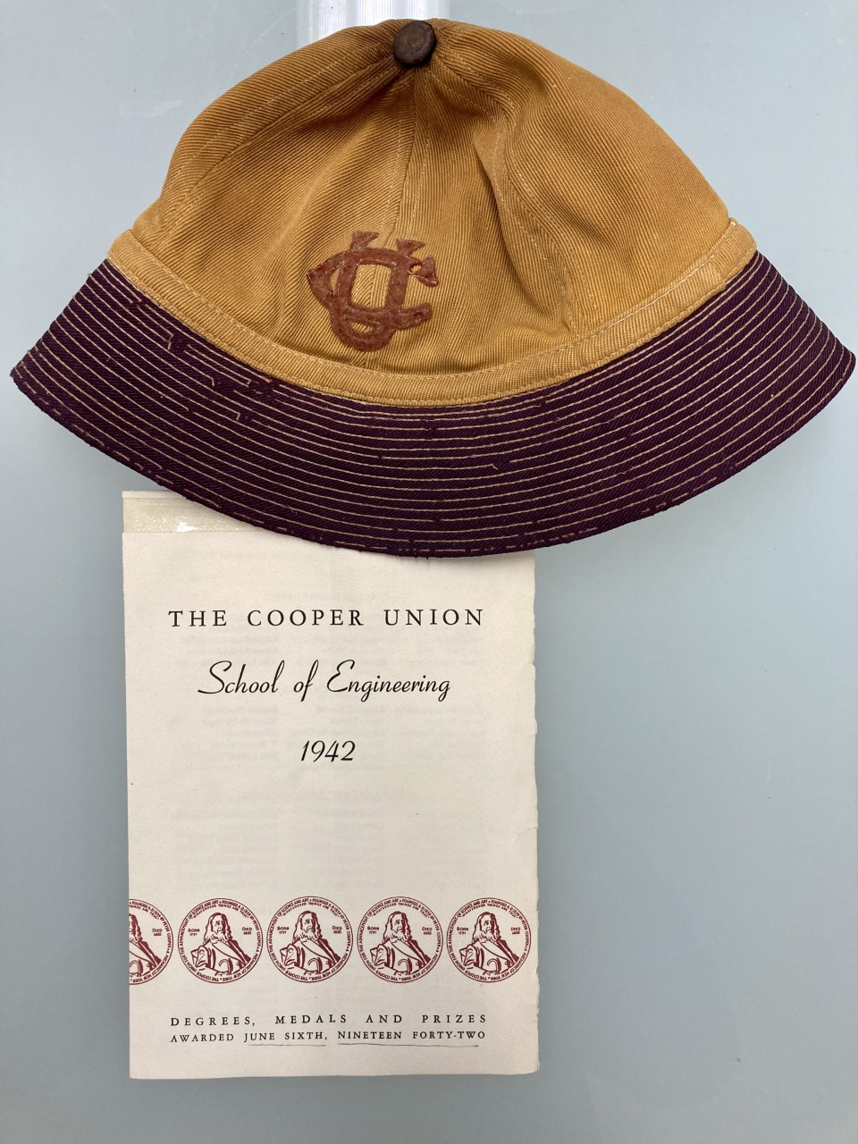 Cooper beanie and 1942 engineering pamphlet