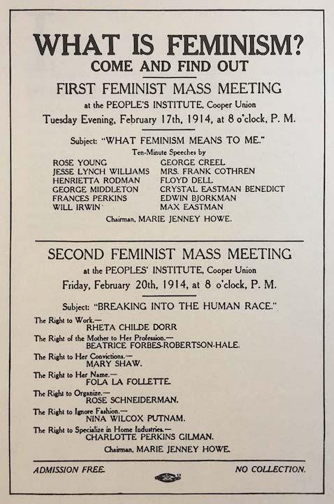 Feminist Meeting, 1914