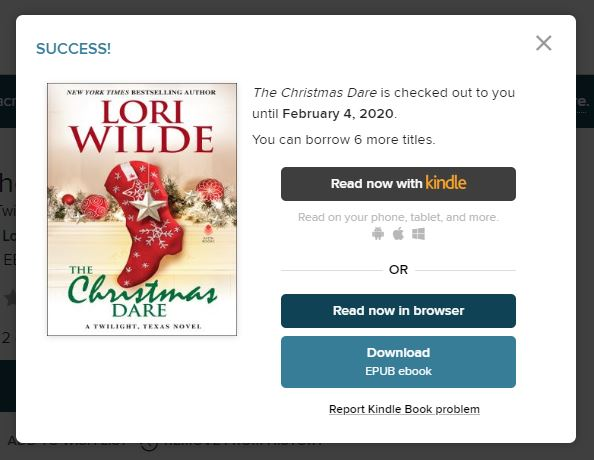 Read with Kindle option in OverDrive website or app