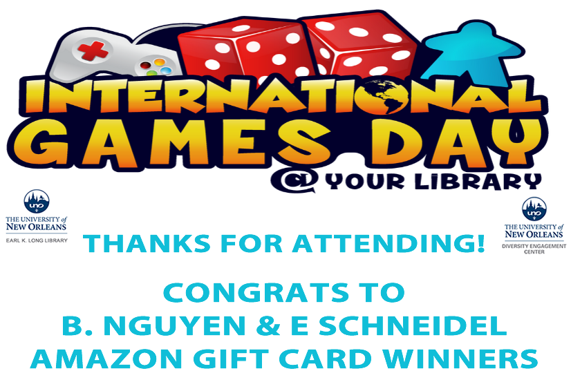 International Games Day - Thank you