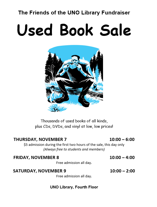 Friends of the UNO Library book sale november 7-9