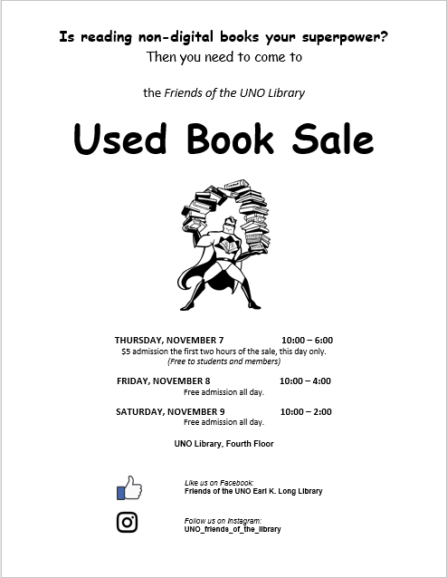 Friends of the UNO Library Fall 2019 Used Book Sale