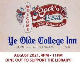Save the date! August 25, 2020 - Dine out for the UNO LIbrary!