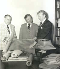 Homer Hitt accepting a manuscript collection