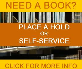instructions to place an on-shelf book hold - note that self service is available again