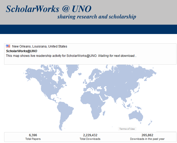 scholarworks readership map