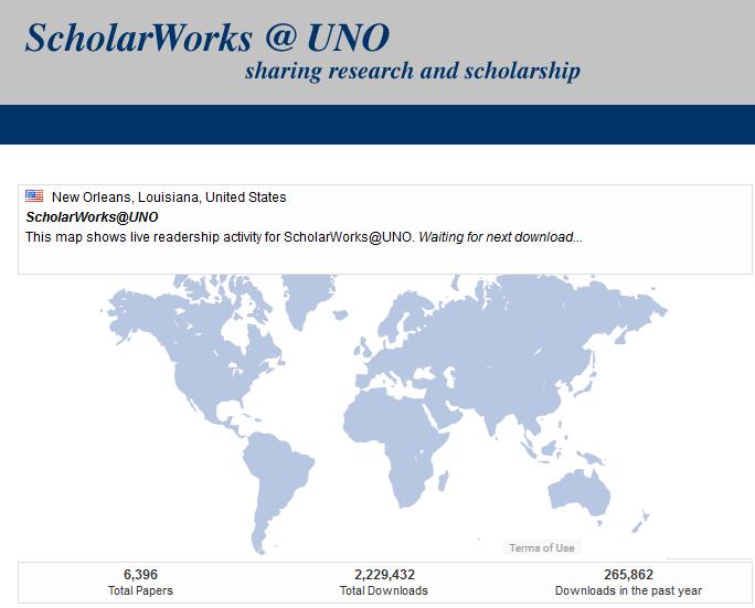 scholarworks readership map