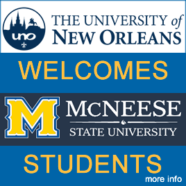 McNeese Students, Welcome to UNO!