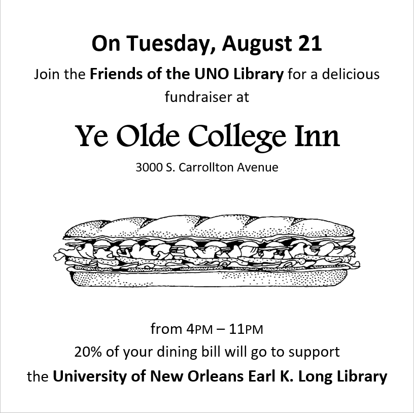 Friends of the UNO Library Dinner Out