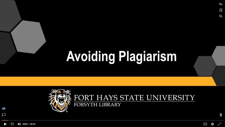 Avoiding Plagiarism Tutorial