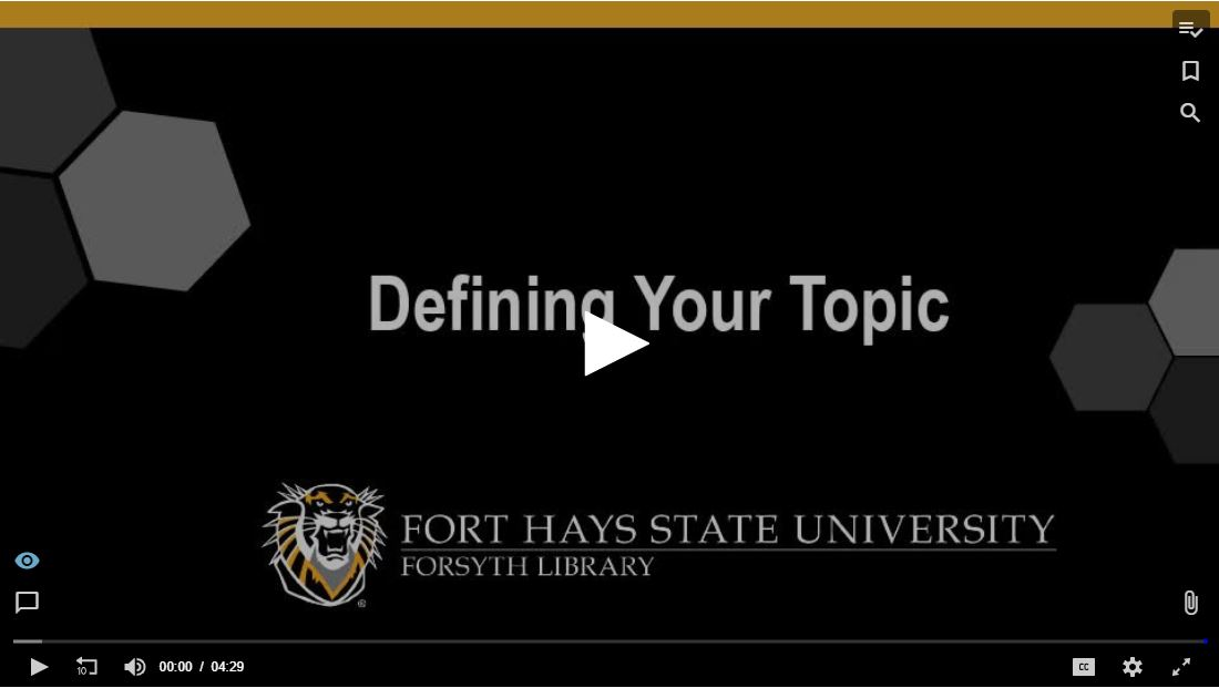 Defining Your Topic Tutorial