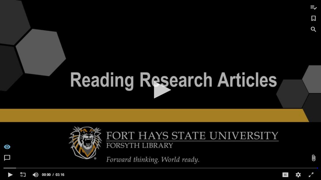 Reading Research Articles Tutorial